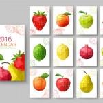 Wall calendar 2016 — Cтоковый вектор #70136743