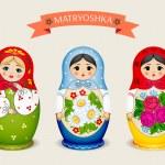 Russian dolls - matryoshka. Vector illustration — Stock Vector #72528377