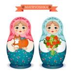 Russian dolls - matryoshka. Vector illustration — Stock Vector #72528503