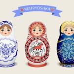 Russian dolls - matryoshka. Vector illustration — Stock Vector #72528525