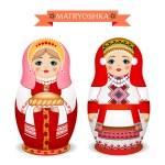 Russian dolls - matryoshka. Vector illustration — Stock Vector #72528607