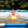 Happy girl in the pool — Stock Photo #52349845