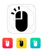 Left click mouse icon. — Stock Vector