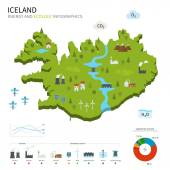 Energy industry and ecology of Iceland — Vecteur