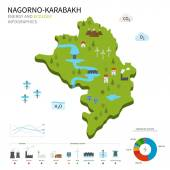 Energy industry and ecology of Nagorno-Karabakh — Stock Vector