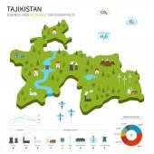 Energy industry and ecology of Tajikistan — Stock Vector
