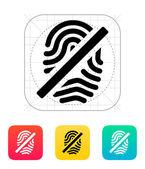 Fingerprint rejected icon. — Stock Vector