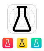 Empty flask icon. Vector illustration. — Stock Vector