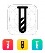 Test tube with substance icon. Vector illustration. — Stockvector