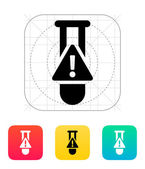 Test tube with warning sign icon. Vector illustration. — Stock Vector