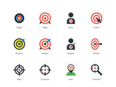 Target icons on white background. — Stock Vector