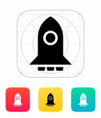 Big rocket icon on white background. — Stock Vector