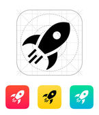 Rocket flies icon on white background. — Stock Vector