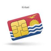 Kiribati mobile phone sim card with flag. — Stockvektor