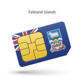 Falkland Islands mobile phone sim card with flag. — Stock Vector