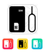 Standard SIM icon. — Stock Vector