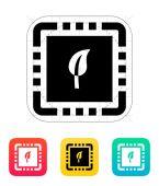 Eco CPU icon. Vector illustration. — Vector de stock