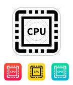 CPU icon. Vector illustration. — Vetor de Stock