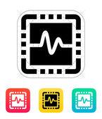 CPU monitoring icon. Vector illustration. — Stock Vector