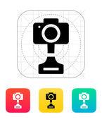 SLR photo award icon on white background. — Stock Vector