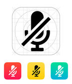 Turn off microphone icon. — Stock Vector