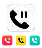 Phone call pause icon. — Stock Vector