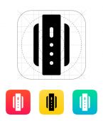 Smart watch back view icon. — Vettoriale Stock