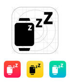 Sleep mode in smart watches icon. — Stock Vector