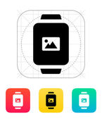 Photo on smart watch icon. — Stock Vector