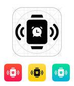 Alarm clock in smart watch icon. — Vetor de Stock