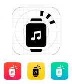 Outgoing sound from smart watch icon. — Wektor stockowy