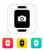 Camera in smart watch icon. — Stock vektor
