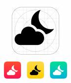 Partly cloudy night icon. — Vettoriale Stock