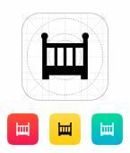 Crib icon. — Stock Vector