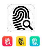 Fingerprint and thumbprint icon. — Stock Vector