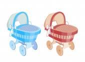 Baby stroller — Stock Vector