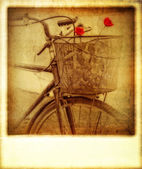 Old vintage effect instant photo of bicycle — Stock fotografie