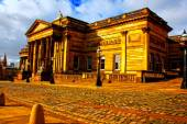 A digitally converted painting of the Walker Art Gallery in Liverpool UK — Stock Photo