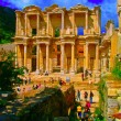 The Library of Celsus in Ephesus — Stock Photo #66947059