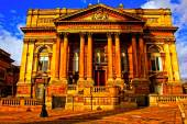 A digitally converted painting of Sessions House in Liverpool UK — Stock Photo