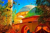 Digital painting of a colouful Turkish Mosque — Stock Photo