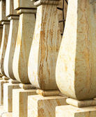 Close up marble baluster columns — Stock Photo