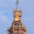 Church steeple in scaffolding — Stock Photo #61769379