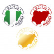 Made in Nigeria stamp - ground authentic stamp with country map — Stock Vector #62764623