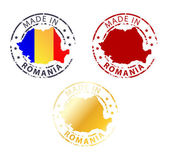Made in Romania stamp - ground authentic stamp with country map — Stock Vector
