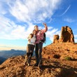 Couple taking selfie during hiking — Stock Photo