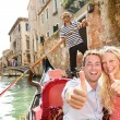 Happy couple in Venice gondola — Stock Photo #52887731