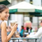 Business woman having coffee break — Stock Photo #52887755