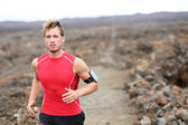 Runner training outdoors for marathon — Stock Photo