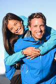 Couple having fun on hike — Stock Photo